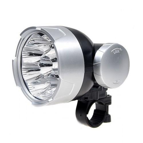 9-LED diodové predné svetlo na bicykel
