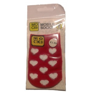 """MOCK"" ponožka na mobil - Fluffy Heart"