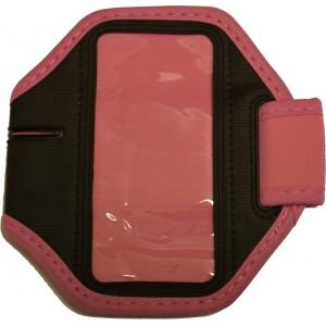 Ružové športové púzdro na ruku pre iPhone 5 / iPhone 4 4S s dierou na slúchadlá