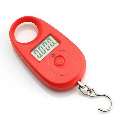 Závesná váha do 25kg presnosť 5g červená