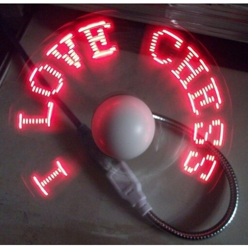 Flexibilný USB ventilátor s programovatelnými LED diodami