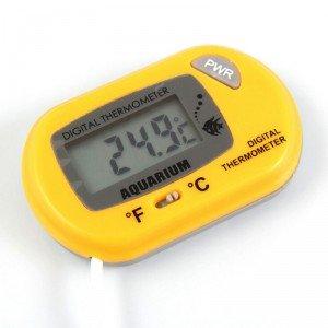 Digitálny teplomer teploty v akváriu žltý